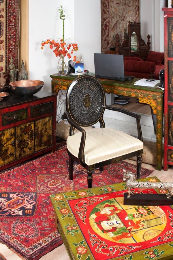 Sala De Estar Moderna La India Imagen de archivo - Imagen de muebles ...