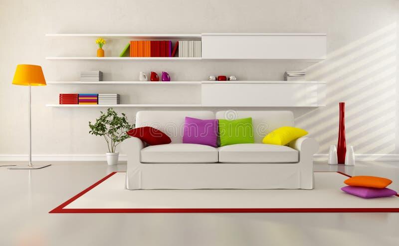 Sala de estar contemporánea brillante ilustración del vector