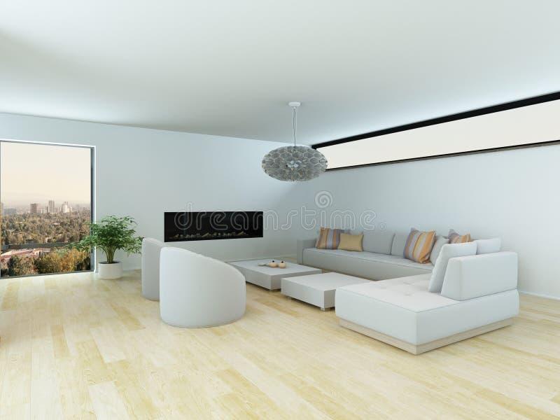 Sala de estar contemporánea con la habitación modular ilustración del vector