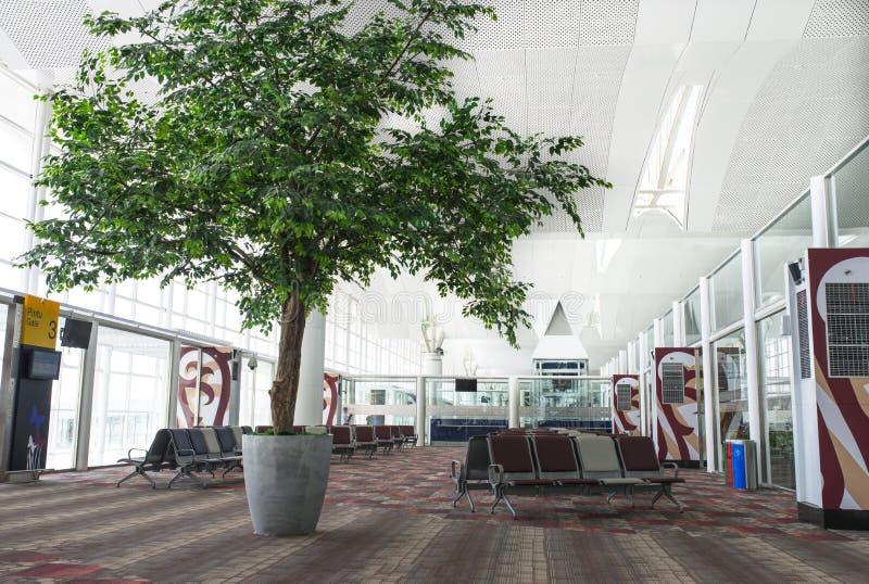 Sala de estar de espera do aeroporto imagem de stock