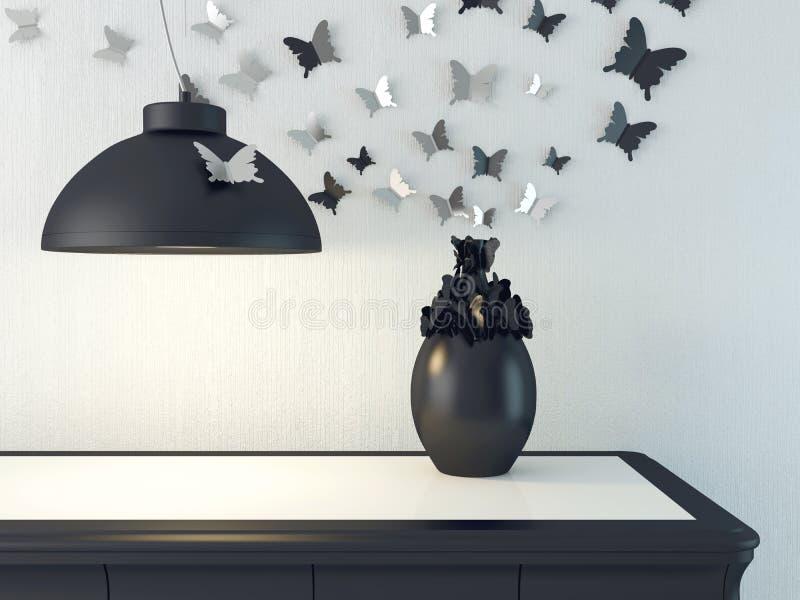 Sala de estar de lujo ilustración del vector