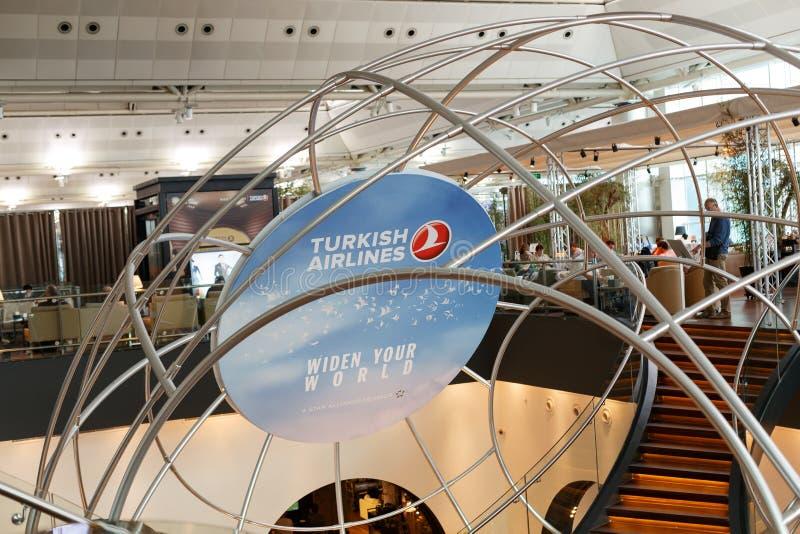 Sala de estar de Turkish Airlines imagens de stock