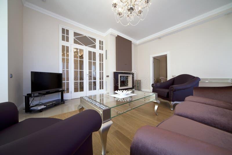 Sala de estar del diseñador fotografía de archivo