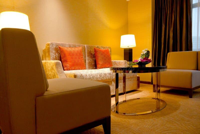 Sala de estar del hotel fotos de archivo libres de regalías