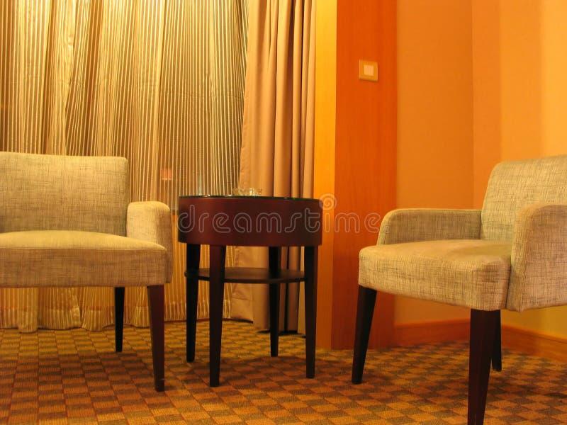 Sala de estar del hotel fotografía de archivo