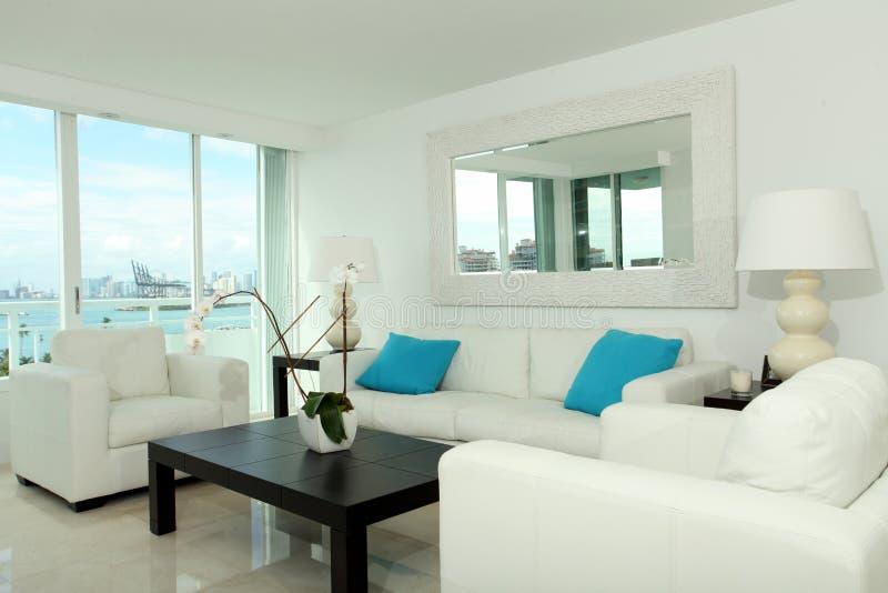 Sala de estar del sur de la playa fotos de archivo