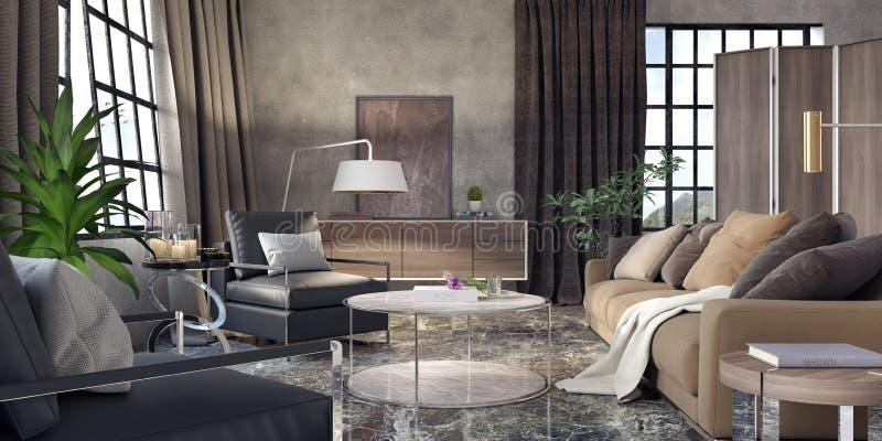 Sala de estar, diseño interior foto de archivo