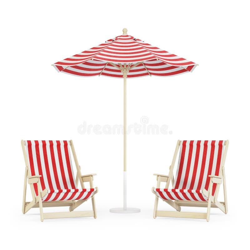 Sala de estar do Chaise com o guarda-chuva no fundo branco fotos de stock
