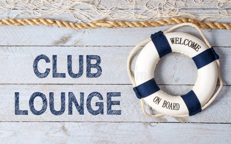 Sala de estar do clube - boa vinda a bordo fotos de stock