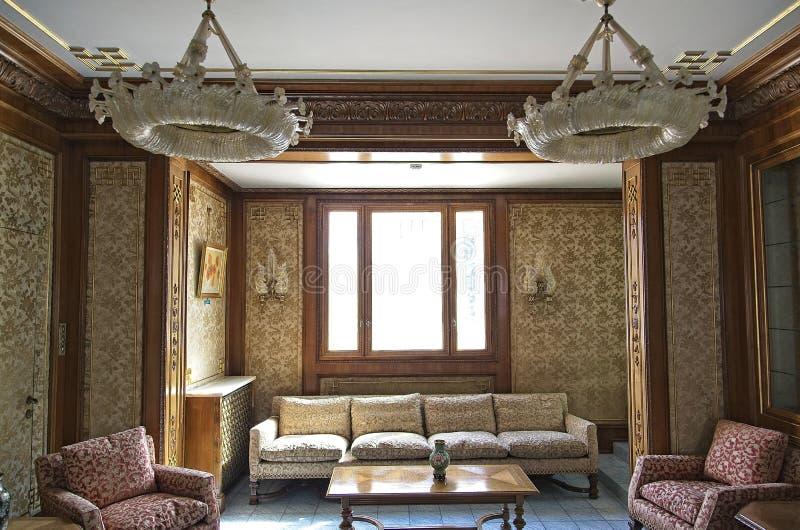 Sala de estar do palácio de Ceausescu imagem de stock royalty free