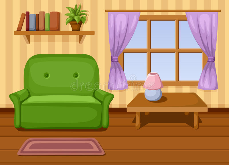 Sala de estar. Ejemplo del vector. stock de ilustración
