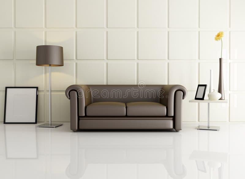 Sala de estar elegante ilustración del vector