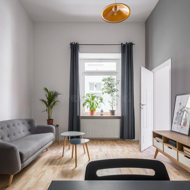 Sala de estar en estilo escandinavo imágenes de archivo libres de regalías