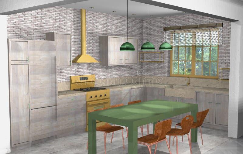Sala de estar industrial r stica moderna con la oficina for Cocina abierta sala de estar