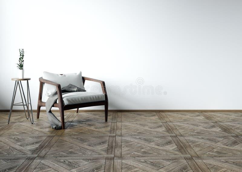 Sala de estar interior, moderna ilustración del vector