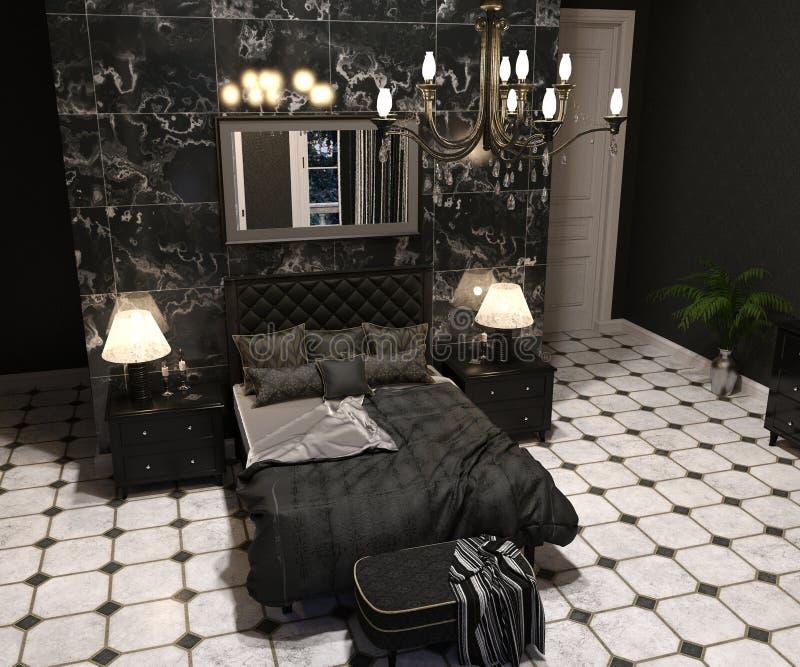 Sala de estar de lujo de Goth imágenes de archivo libres de regalías