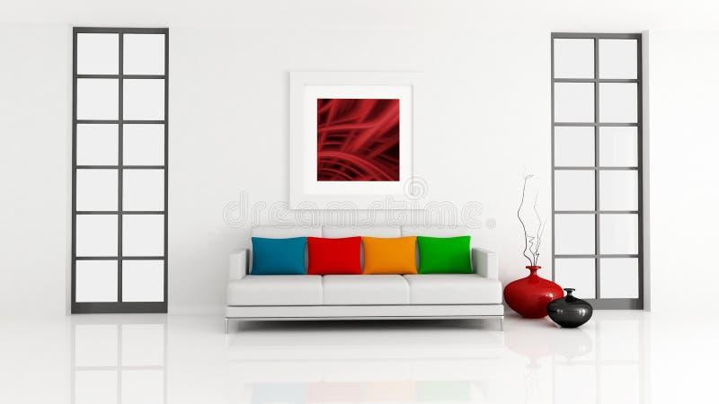 Sala de estar minimalista ilustração stock