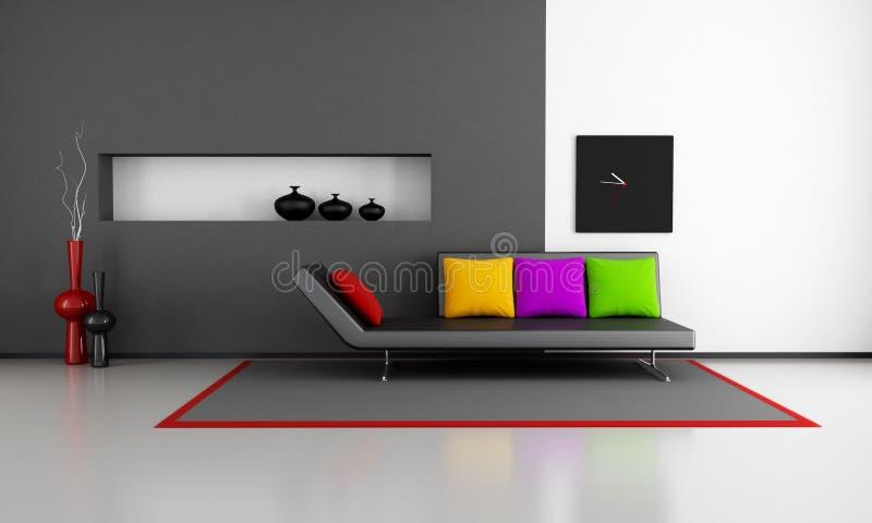 Sala de estar minimalista ilustração royalty free