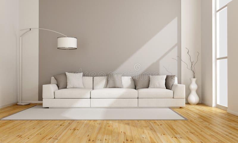 Sala de estar minimalista ilustração do vetor