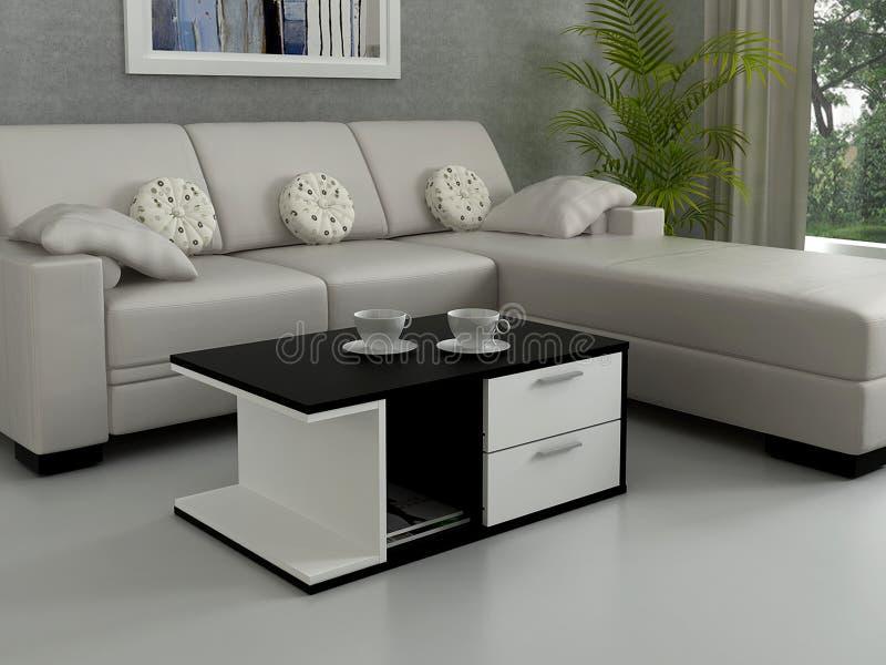 Sala de estar minimalista moderna imagen de archivo libre de regalías