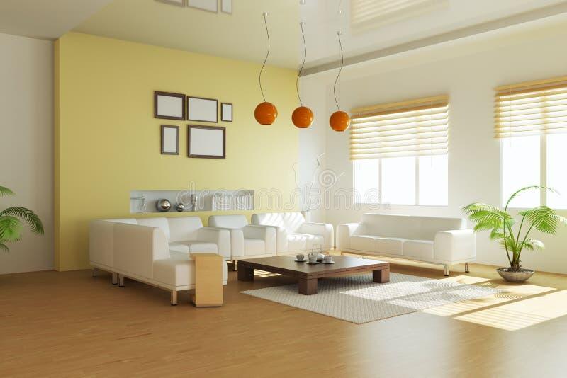 Sala de estar moderna libre illustration