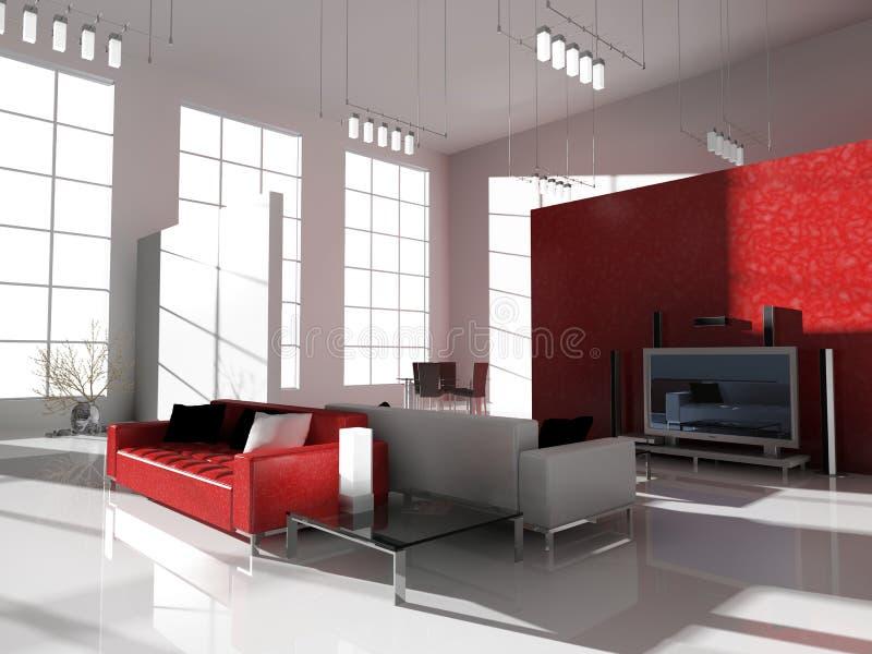 Sala de estar moderna foto de stock royalty free