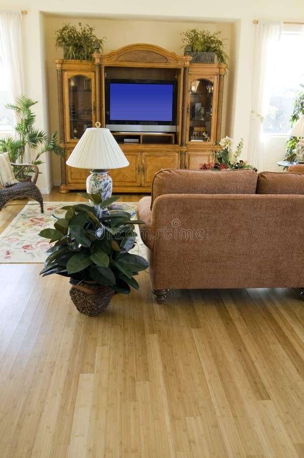 Sala de estar moderna de invitación foto de archivo libre de regalías