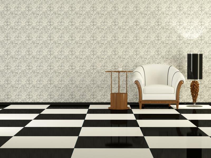 Sala de estar moderna de la elegancia ilustración del vector