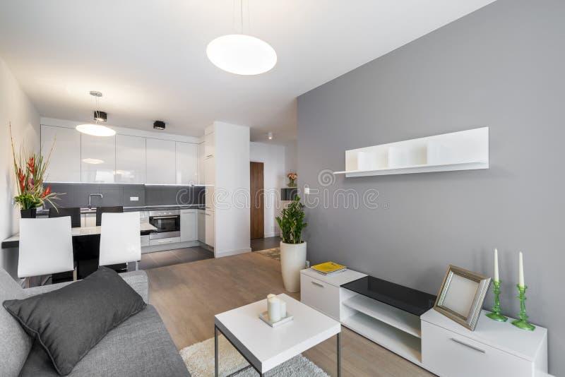 Sala de estar moderna del diseño interior fotos de archivo
