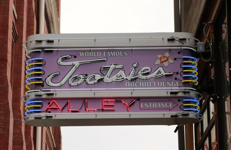 A sala de estar mundialmente famosa da orquídea dos Tootsies, Nashville do centro Tennessee imagem de stock