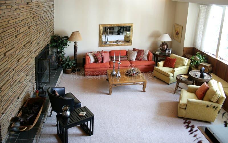 Sala de estar retra imagen de archivo