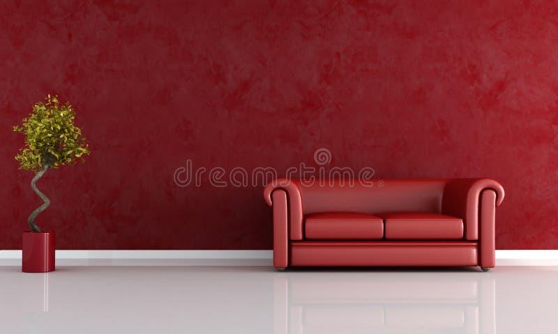 Sala de estar roja libre illustration