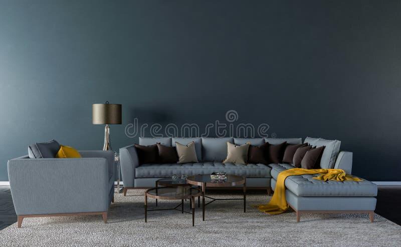 Sala de estar vacía ilustración del vector