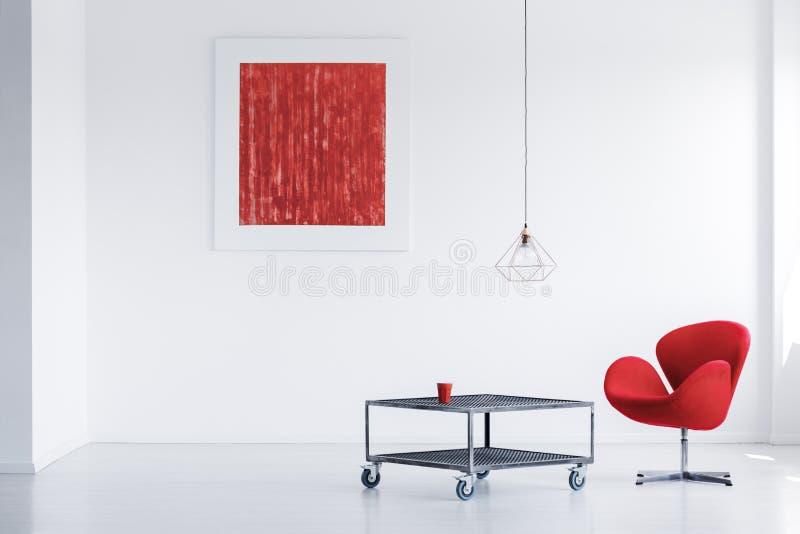 Sala de estar vacía con la pintura imágenes de archivo libres de regalías