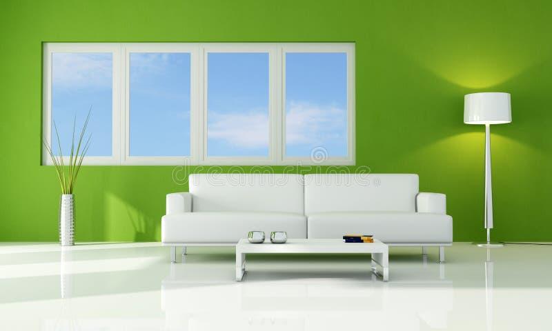 Sala de estar verde ilustração royalty free