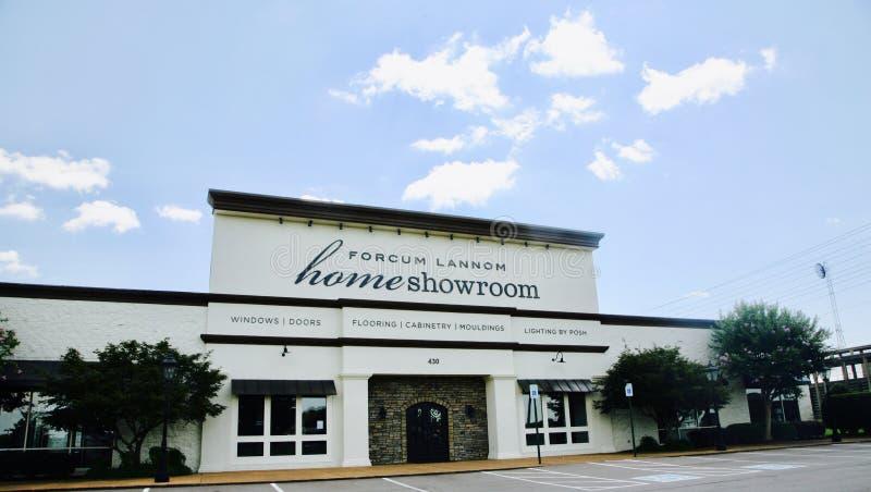 Sala de exposições Jackson da casa de Forcum Lannom, TN fotos de stock
