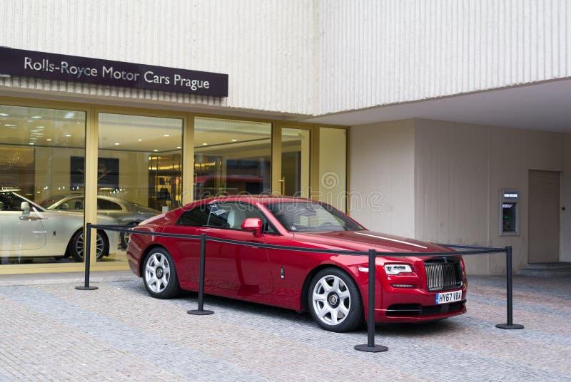 Sala de exposições de Rolls royce foto de stock