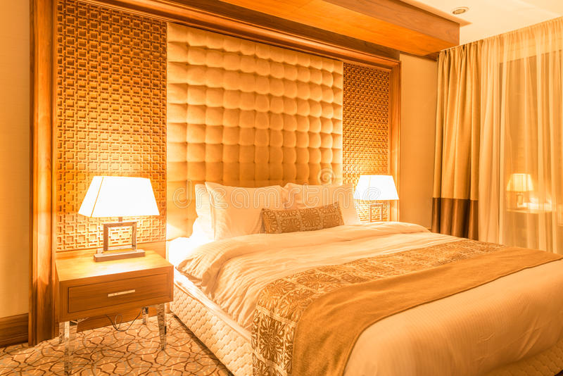 Sala de hotel com interior moderno imagens de stock