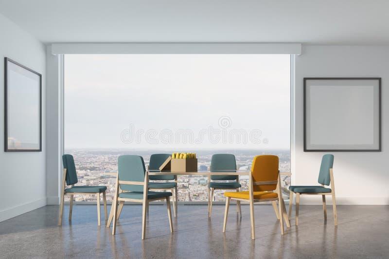 Sala de jantar branca, dois cartazes ilustração royalty free