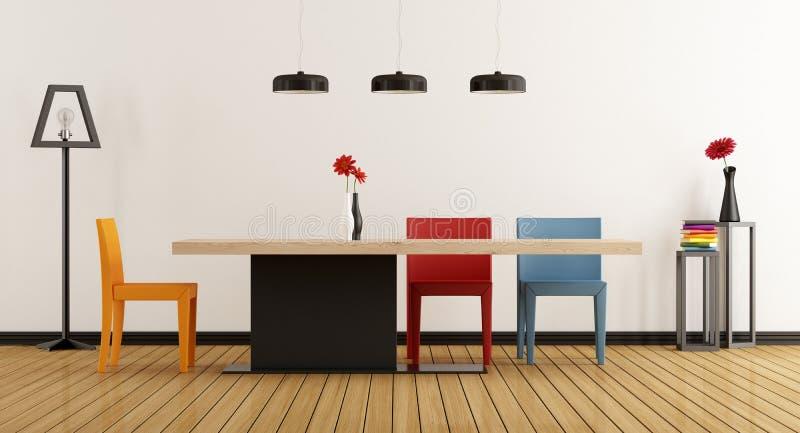 Sala de jantar colorida ilustração stock