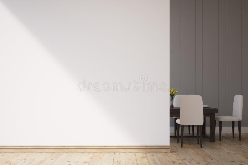 Sala de jantar com cadeiras ilustração royalty free