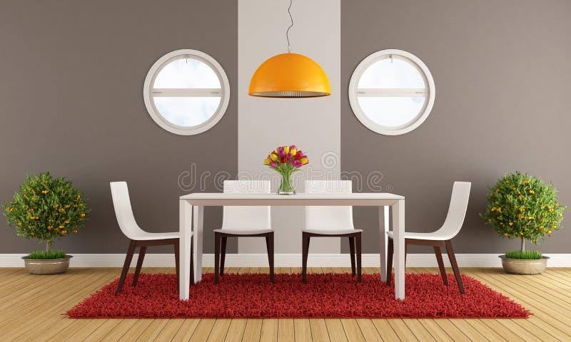 Sala de jantar contemporânea ilustração do vetor