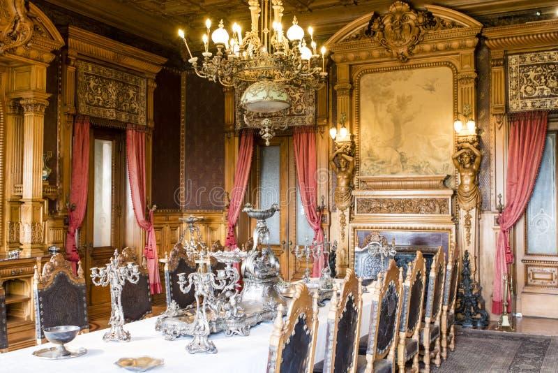 Sala de jantar dentro do castelo de Castillo Chapultepec em Cidade do México - México fotografia de stock