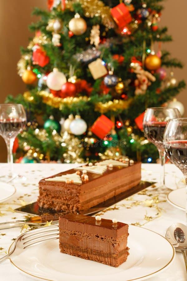 Sala de jantar do Natal imagens de stock royalty free