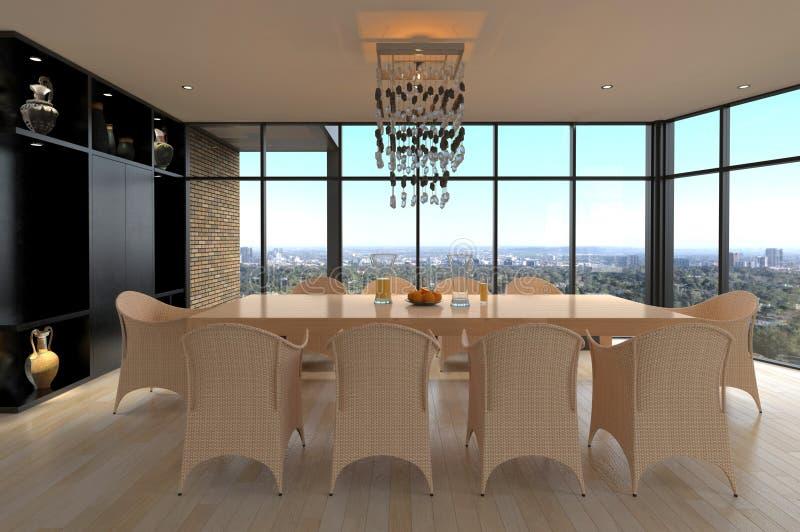 Sala de jantar do projeto moderno   Interior da sala de visitas