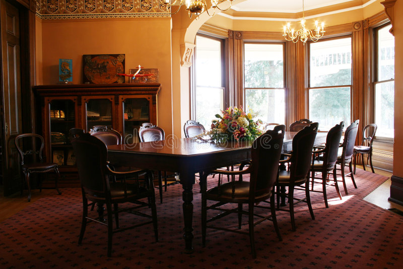 Sala de jantar do Victorian foto de stock royalty free