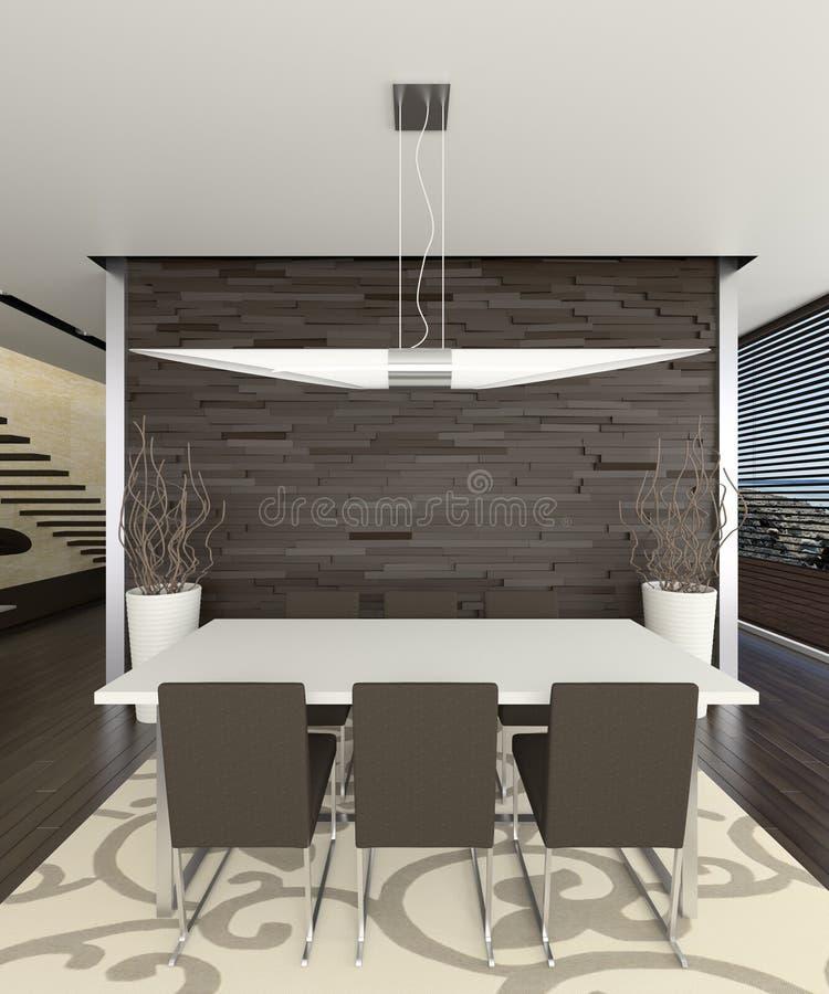 Sala de jantar elegante 3d ilustração do vetor