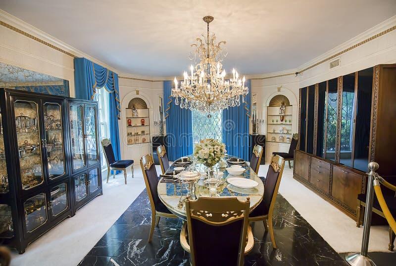 Sala de jantar formal de Graceland fotografia de stock