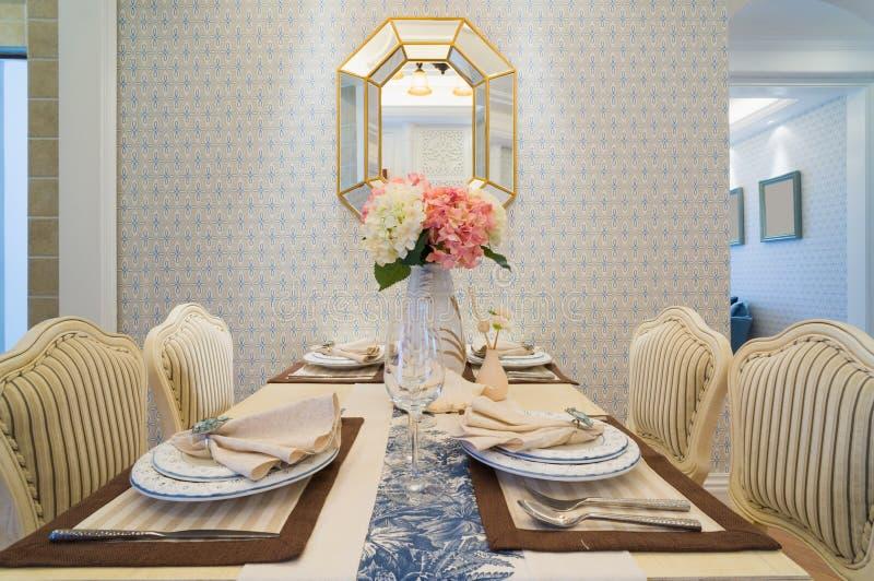 Sala de jantar luxuosa imagem de stock