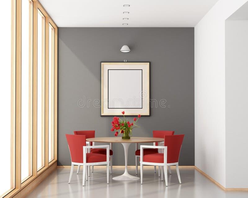 Sala de jantar minimalista ilustração do vetor